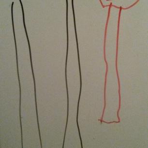 Papà, Nonna Rita e Filippo disegnati da mio fratello Edoardo a 3 anni